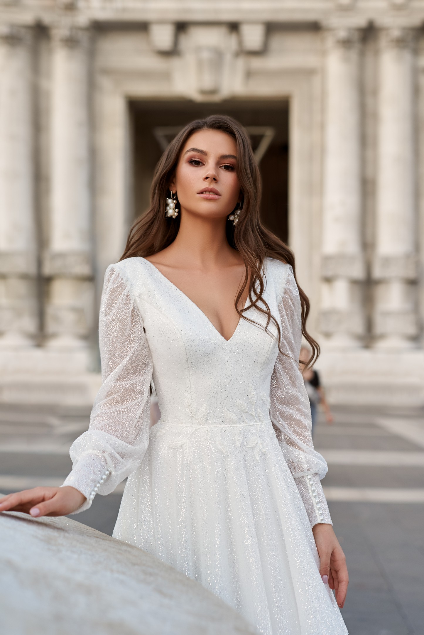 BOHO STYLE WEDDING DRESS WITH SHEER DETAILS