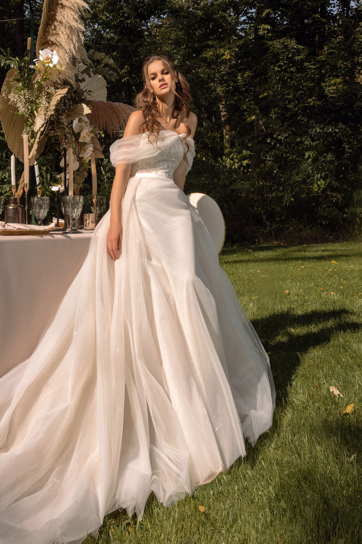 Wedding Dress With Textured