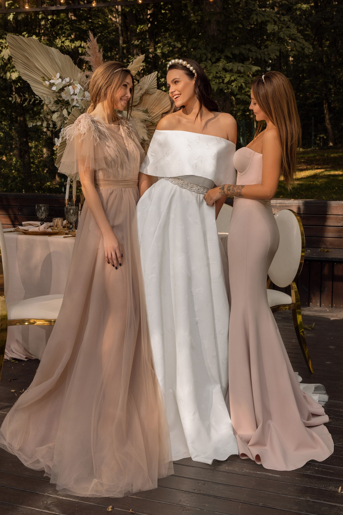 Fit And Flare Wedding Dress In Mikado