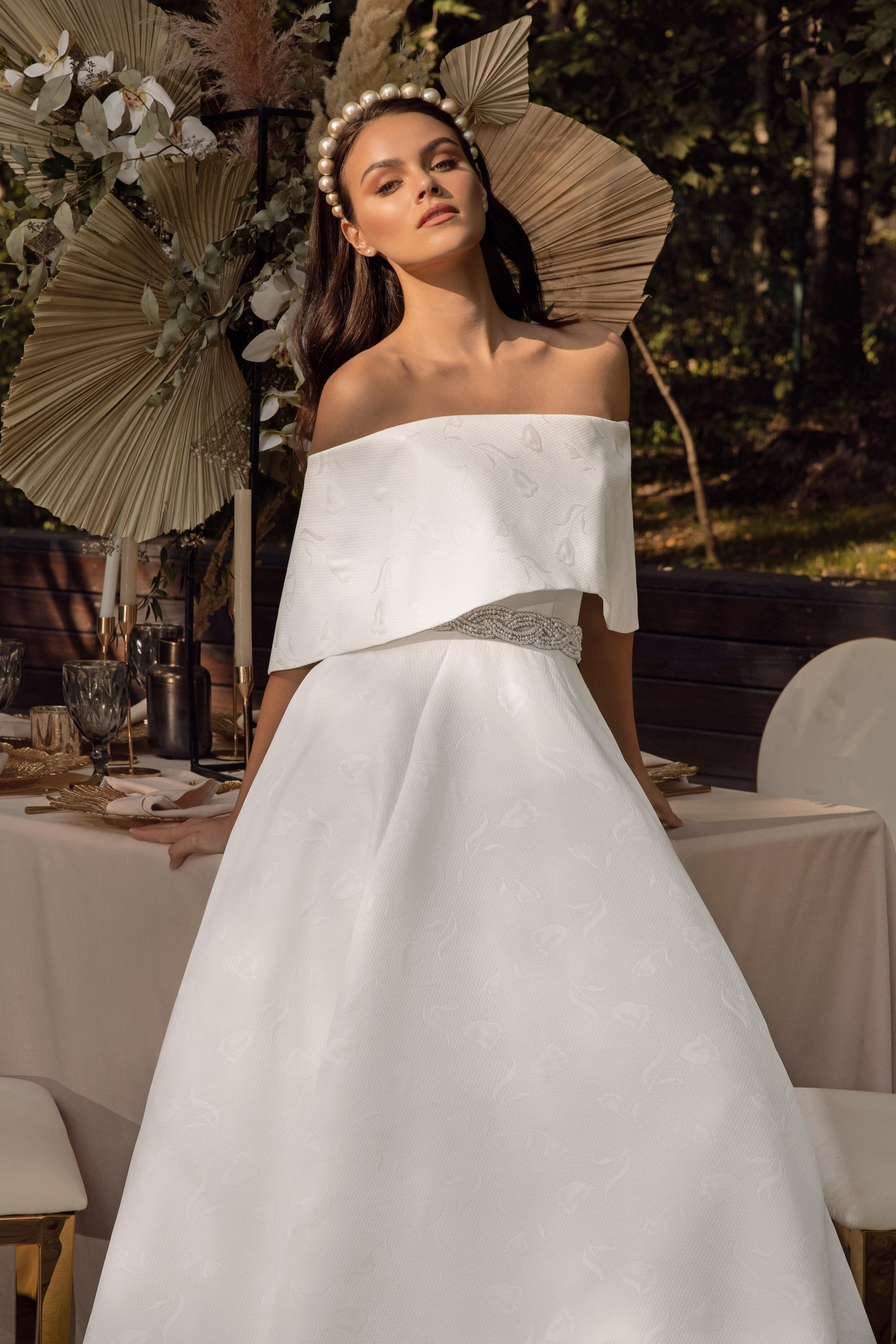 Fit And Flare Wedding Dress In Mikado_1
