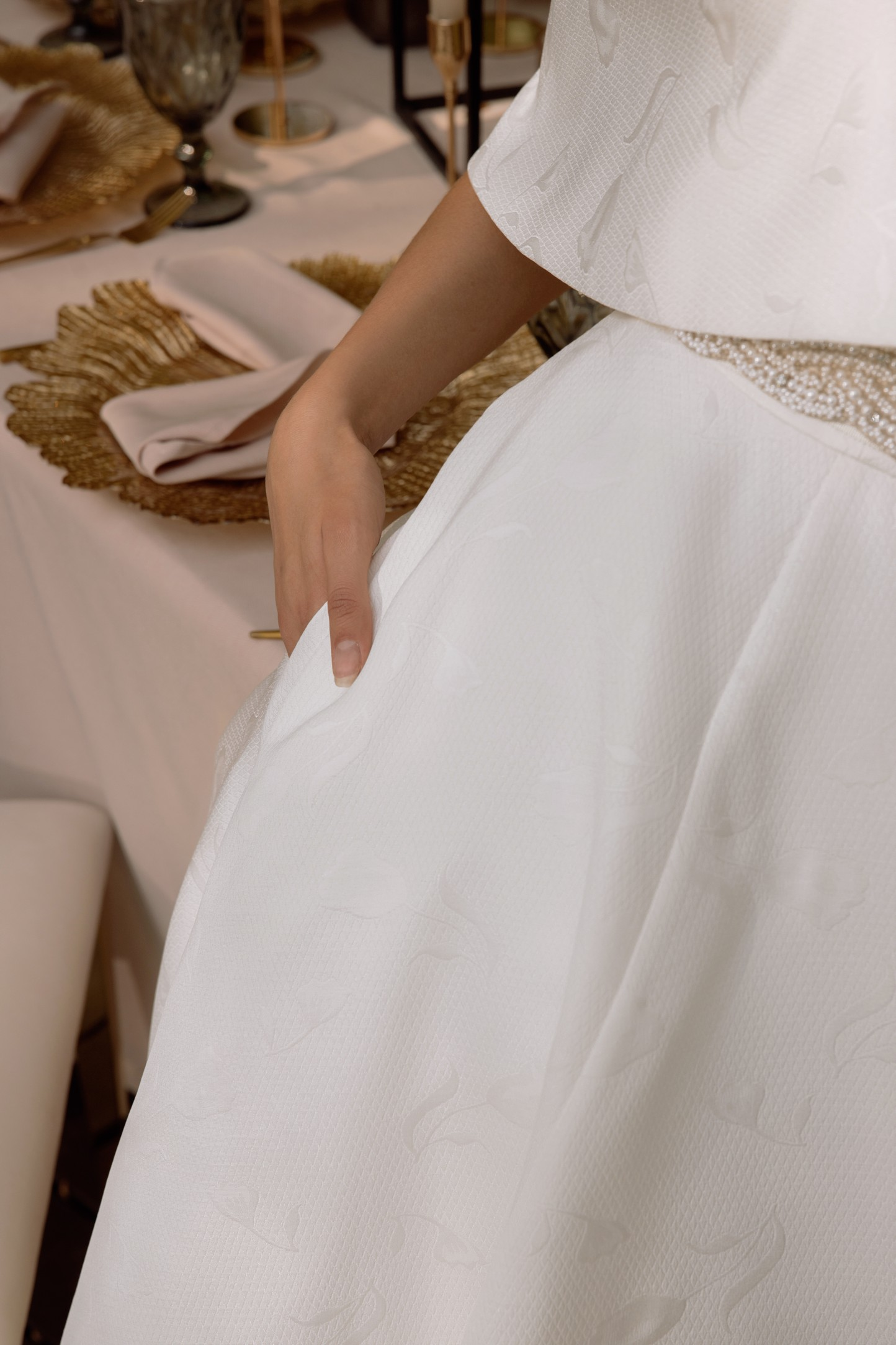 Fit And Flare Wedding Dress In Mikado_2