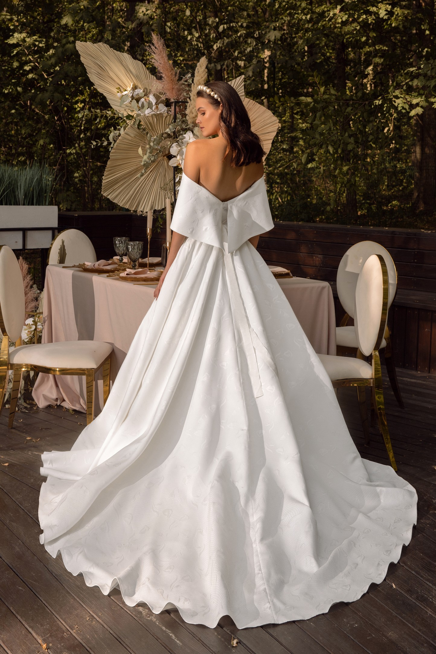 Fit And Flare Wedding Dress In Mikado_3