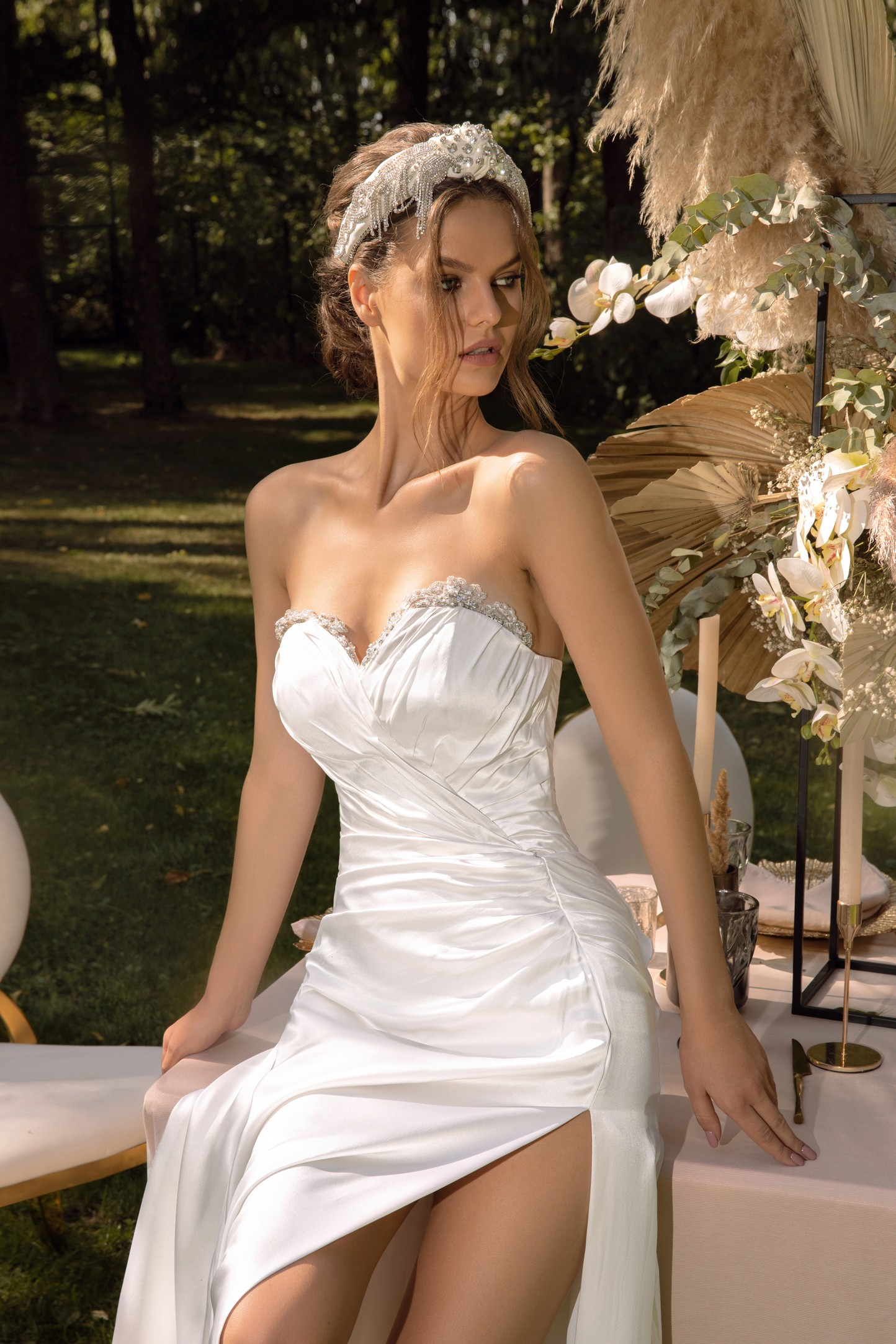 Lace A-line Wedding Dress With Long Sleeves