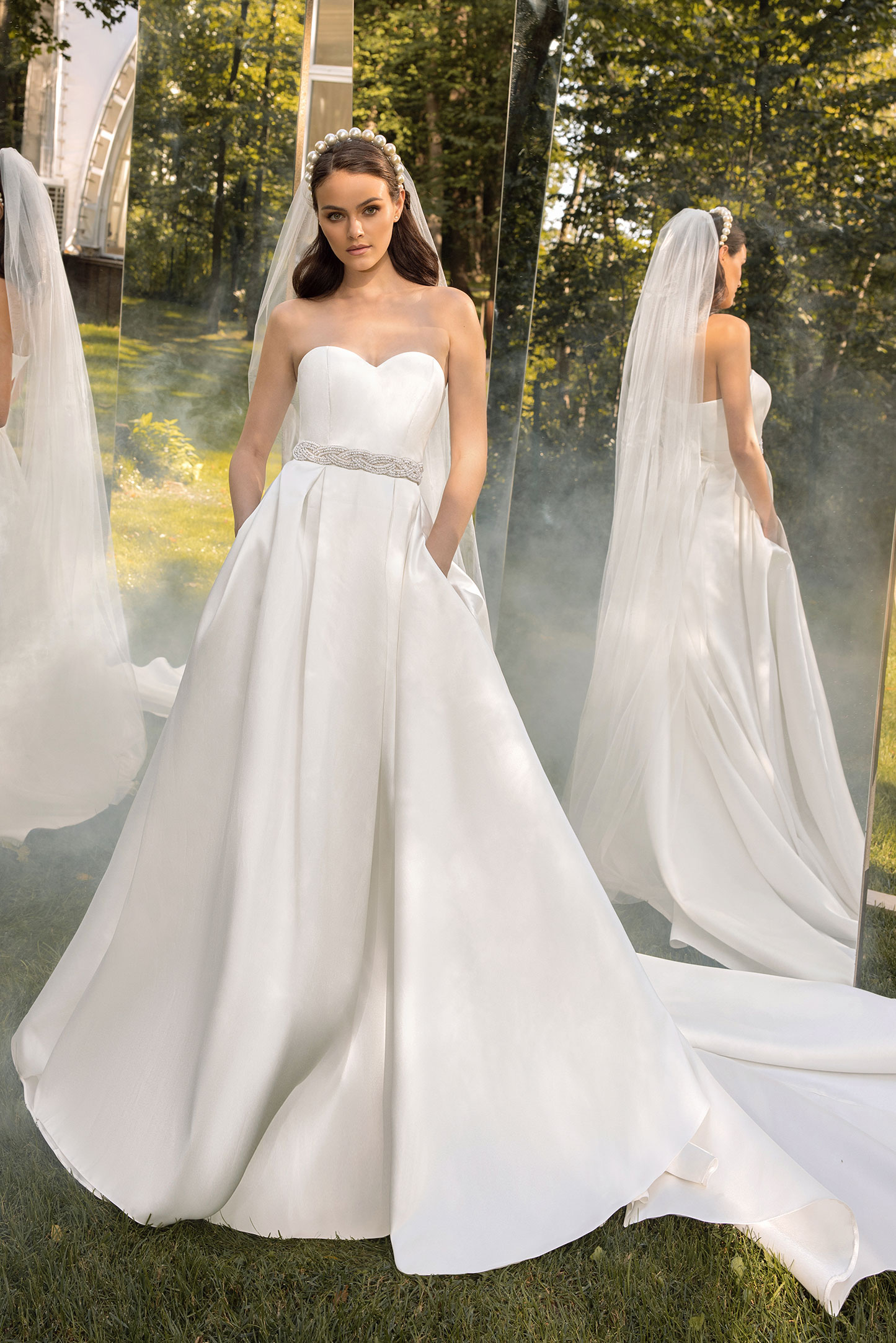 A-line wedding dress Abies